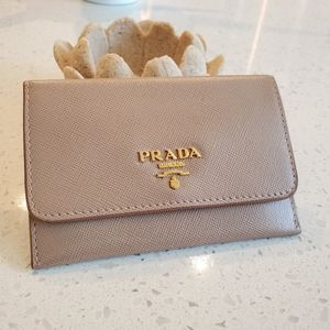 EUC Prada Saffiano Oversized Card Case